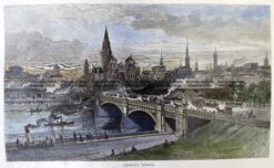 29-499  Princes Bridge Melbourne circa 1886