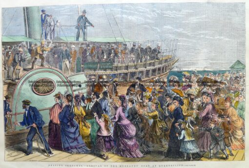 29-500  Queenscliff Pier – waiting for husbands' arrival  c.1874