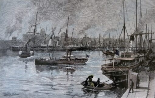 29-509 Melbourne from the Yarra c.1886