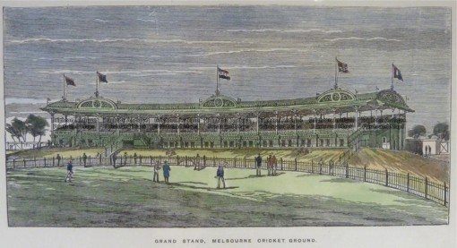 29-523  Melbourne Cricket Ground MCG grand stand  c.1889