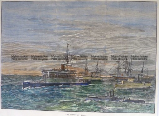 29-526  Cerberus and Victorian Navy  c.1889