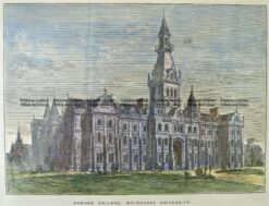 29-528  Ormond College Melbourne University c1889