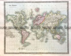 3-187  World by Teasdale c. 1844