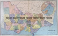 3-203 - Victoria Picturesque Atlas  circ 1886 Chromolithograph 61cm X 37cm Condition A+