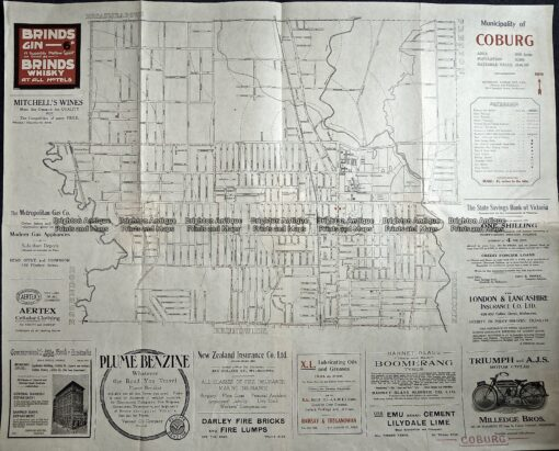 3-221  Coburg street map  c.1920