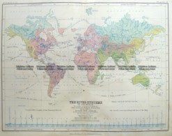 3-392  World - River Systems by Johnston  c.1851
