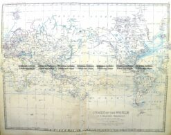 3-396  World on Mercator projection by Johnston  c.1864
