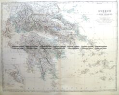 3-398  Greece and Ionian Islands by Johnston c.1864