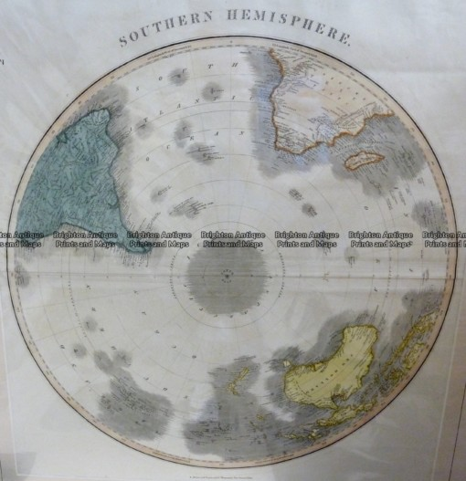 3-400  Southern Hemisphere – South Pole by Thomson  c.1816