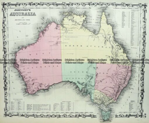 3-515  Australia by Johnson  c.1855