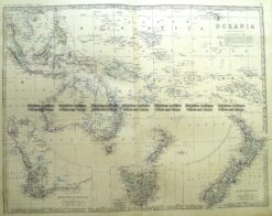 3-699  Oceania - Australia and Pacific by Johnston c.1864