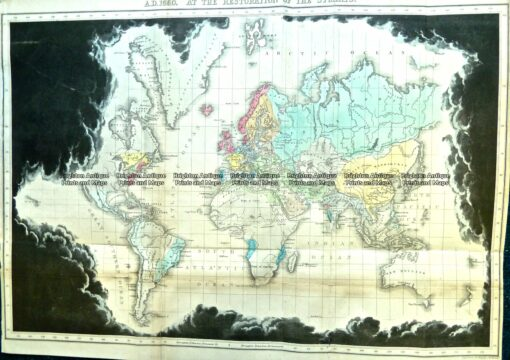 3-807 World in 1660 by Quin c.1856