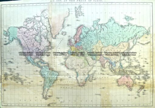 3-808  World in 1783 by Quin c.1856