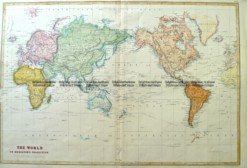 3-812  World by Bartholomew  c.1855