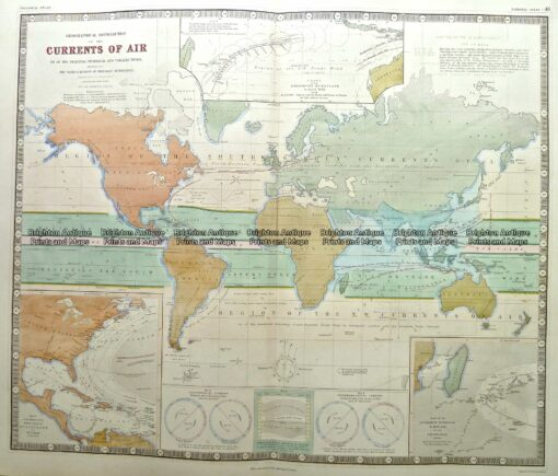 3-816  World with Currents of Air  c.1850