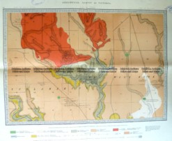 3-818  Victoria - Geological map of Broadmeadows  c.1870