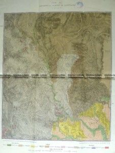 3-819  Victoria - Gippsland geological map  c.1884