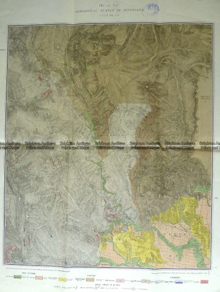 3-819  Victoria – Gippsland geological map  c.1884
