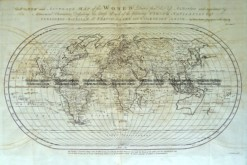 3-820   World by Emanuel Bowen  c.1744