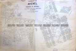 3-825  Victoria Parish and town of Avenel  c.1954