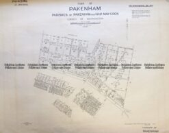 3-832 Melbourne - Street map of Pakenham  c.1848