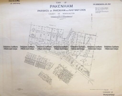3-832 Melbourne – Street map of Pakenham  c.1848