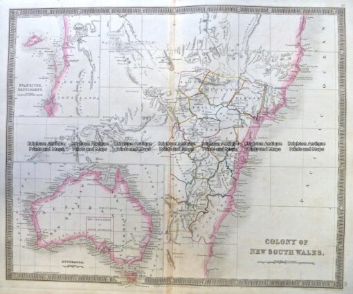 3-891  Australia and Pacific by Teesdale  c.1837