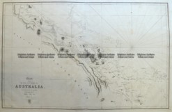 3-899 Coast of Queensland by Flinders & Phillip King Admiralty... circa 1824