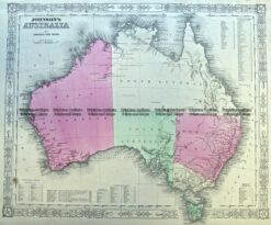 3-988  Australia by Johnson & Ward  c.1855