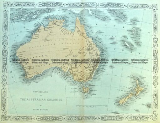 3-989  Australia and New Zealand by Hughes  c.1860