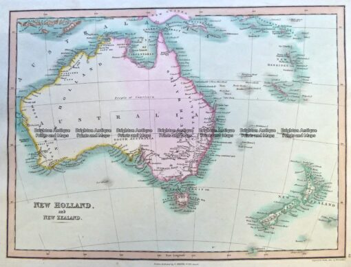 3-992  Australia and New Zealand by Smith c.1835
