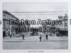 32-370 - adelaide - grenfell street anon - circa 1910 half tone photo print 18cm x 13cm condition a+