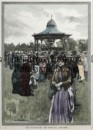 32-371 - Adelaide - Adelaide bandstand W Hetherell - circa 1887 Hand coloured wood engraving 15cm X 20cm Condition A+