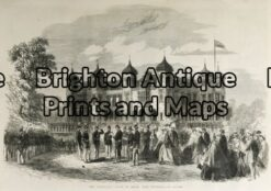 32-381 - Perth - Government House Anon - circa 1870 Hand coloured wood engraving 34cm X 23cm Condition A+