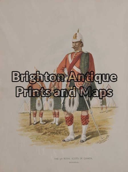 33-002 – Military – Canadian regiment Anon – circa 1890 Chromolithograph 16cm X 22cm Condition A+