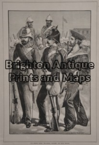 33-006 - Military - Australians in Soudan Anon - circa 1885 Wood engraving 23cm X 33cm Condition A+