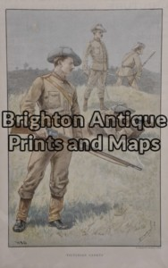 33-007 - Military - Australian   Anon - circa 1892 Chromolithograph 21cm X 33cm Condition A+