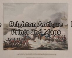 33-014 - Military - Landing British Troops Jenkins - circa1815 Hand coloured engraving 22cn X 16cm Condition A+