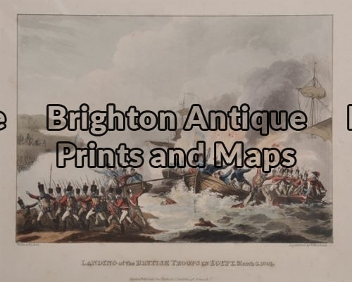 33-014 – Military – Landing British Troops Jenkins – circa1815 Hand coloured engraving 22cn X 16cm Condition A+
