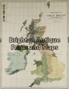 4-138 - Britain - ethnological map Johnston - circa 1886 Chromolithograph 33cm X 43cm Condition A