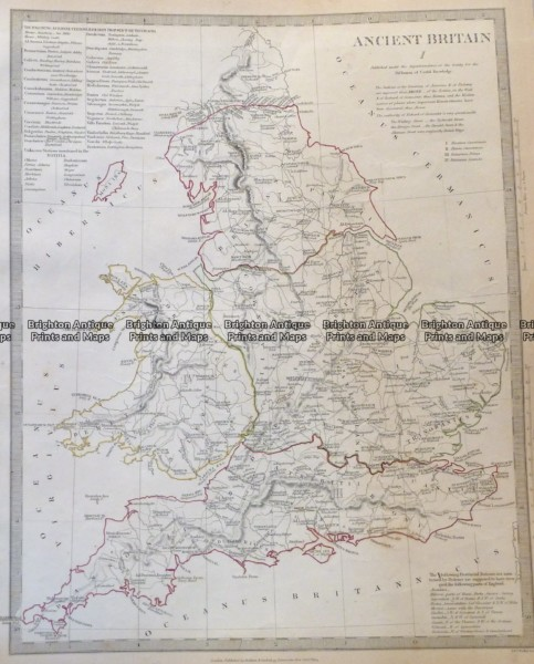 4-167  Ancient England and Wales  c.1844