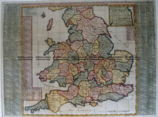 4-174  England and Wales by Chatelain c.1719