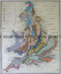 4-180  England Geological map by S.D.U.K. c.1844