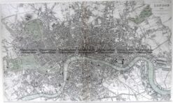 4-184 London Street Map by S.D.U.K. c.1844