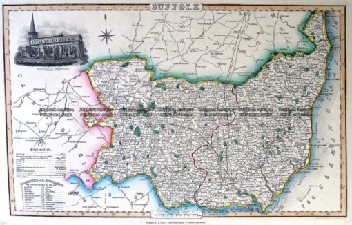 4-186 County of Suffolk England c.1847