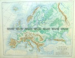 4-186  Europe - Topographical map  by Blackwood  c.1890