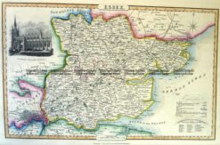 4-187  Essex England by I. Slater c.1847
