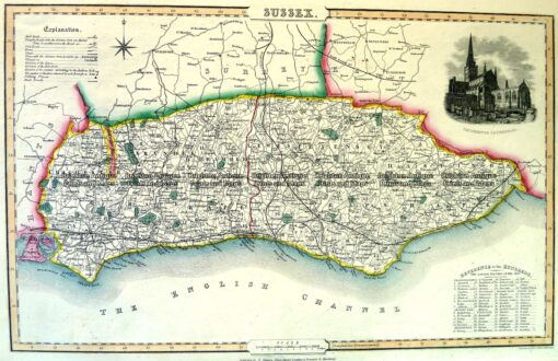 4-195 Sussex England by I. Slater c.1847