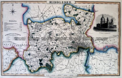 4-197  Middlesex England by I. Slater c.1847