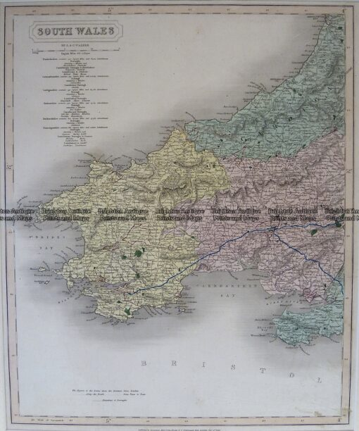 4-198  Wales – Southern Counties by Longman  c.1836